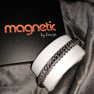 Magnetic cuff style bracelet